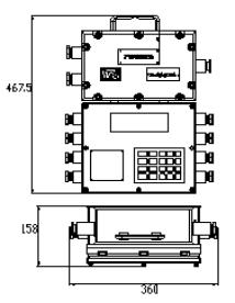 ICS-ST-Z矿用隔爆兼本安型皮带秤主机